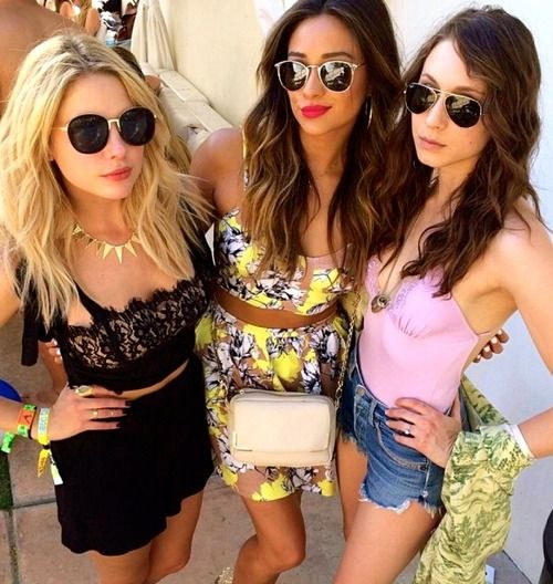 Ashley Benson, Shay Mitchell & Troain Bellisario - Coachella 2014