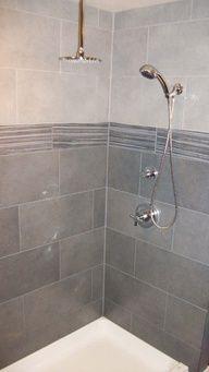 Tiled shower - dark to light