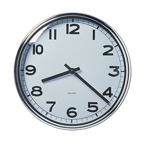 PUGG  Wall clock, stainless steel chrome plated  $19.99  -- love this clock for the kitchen