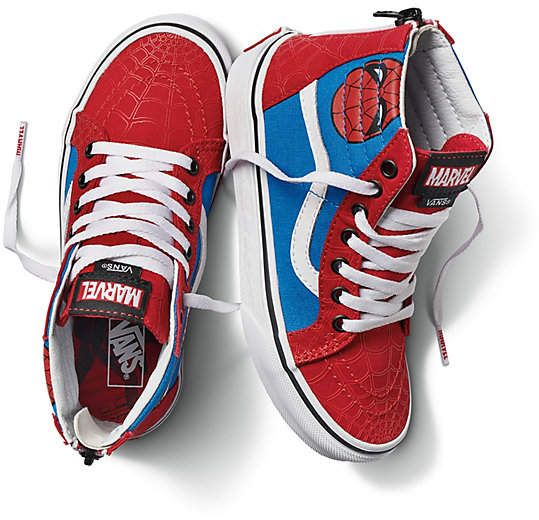 Vans X Marvel Kids SK8-Hi Zip #apparel