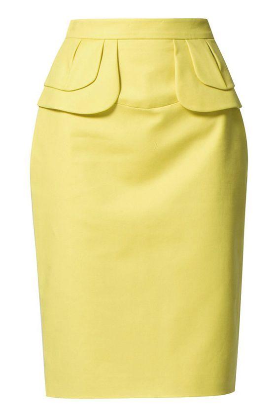 Shopping Dress for less faldas lápiz: Amarilla de Zalando