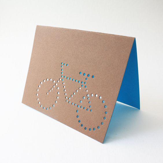 brown bike cards ... set of 3 blank cards. $8.00, painted fish studio