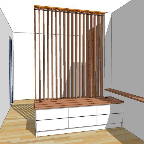 Fabrication Sur Mesure D Un Meuble Bas Et Claustra Mobile