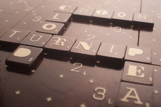 Scrabble typography edition.  Lovely.