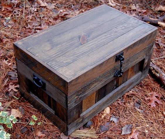 Recycled Pallet Chest Toy Box Coffee Table Pallet Furniture Diy Pallets 101 Pinterest