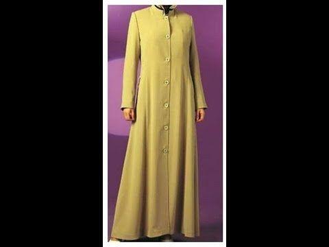 عباية بسيطة بمرد و زراير من الأمام تفصيل و خياطة هوايتي Youtube Abaya Fashion Dresses With Sleeves Fashion