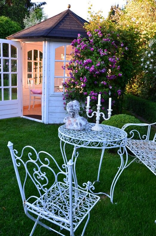 Garden house makes a nice setting for this Garden Party! Maybe paint this a bright color for The Cupcake Mansion?