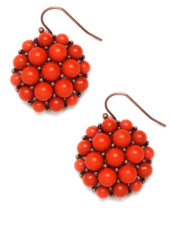 Perfect splash of orange with our Tangerine Drop earrings!