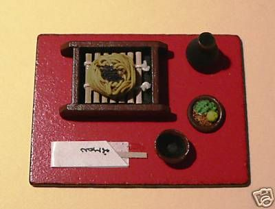 Japanese Miniature Cold Noodle Lunch Set 1:12 scale