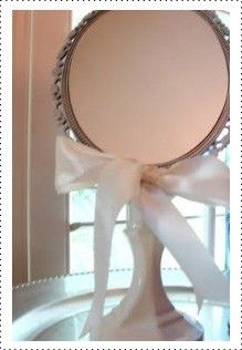 Oval mirror candle sticks and dollar tree on pinterest for Dollar store mirror craft
