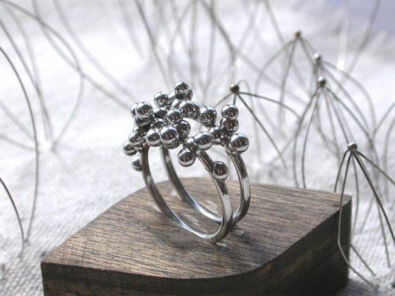 Dragée Ring Pair - Stainless