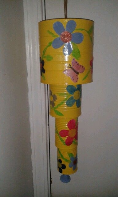 Tin can wind chime for my kiddos pinterest wind for Large tin can crafts