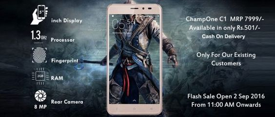 How To Buy ChampOne C1 Smartphone Launched at Rs 501 Comes With Fingerprint Sensor 4G LTE Support