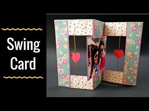 4 Unique Handmade Swing Card How To Make Flip Flop Card Youtube Swing Card Anniversary Cards Handmade Diy Unique Cards