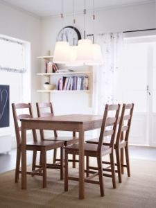 mutiple lights over table