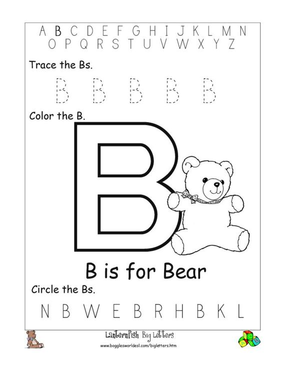 Common Worksheets » Worksheets For Letter B - Preschool and ...