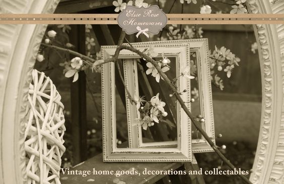 Shabby-chic vintage picture frames - Elsie Rose Homewares