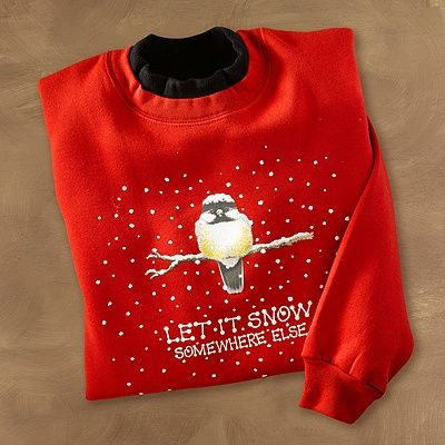Snow Somewhere Else Chickadee Pullover | National Wildlife Federation