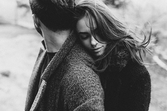 Moody black and white engagement shoot