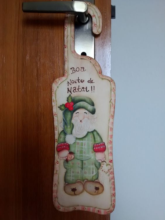 Decorativo de porta natalino