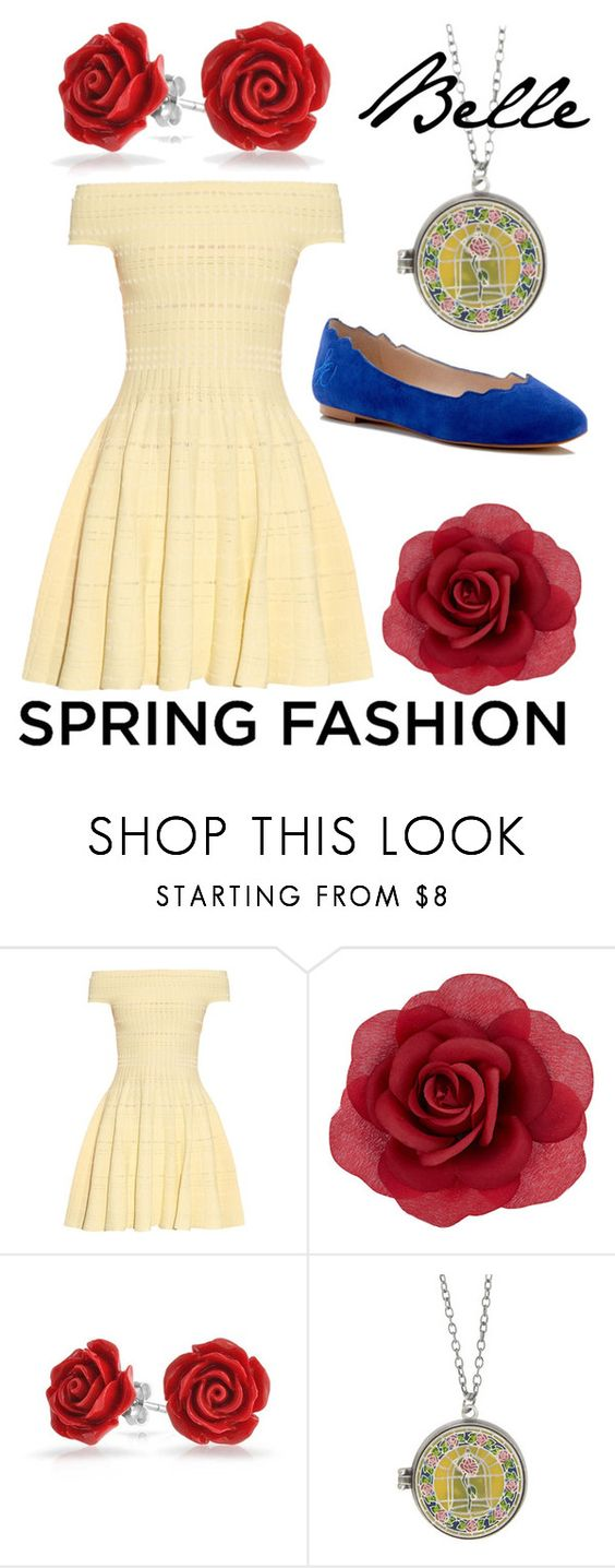 """""""Belle"""" by avenueg ❤ liked on Polyvore featuring Alexander McQueen, Accessorize, Bling Jewelry, Disney and Sam Edelman"""