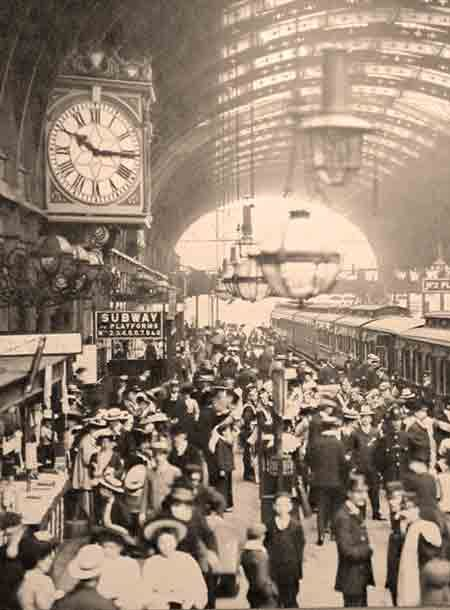 Busy Train Station In The Early 1900s An Enhanced Detail