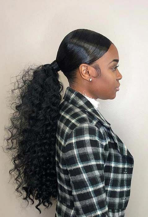Stunning Low Ponytail Idea For Black Women Hairstyle Haircolor Humanhair Hairinspiration Hair Ponytail Styles Black Ponytail Hairstyles Elegant Ponytail