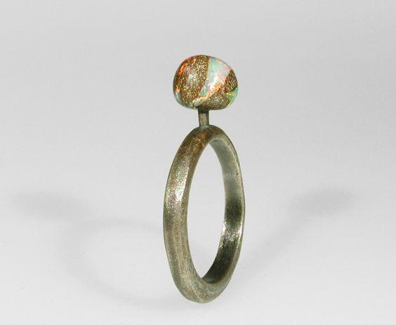 Sergio & Stefano Spivach - Ring - opal, silver