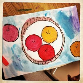 ChumleyScobey Art Room: Cezanne's Apples with 1st Grade