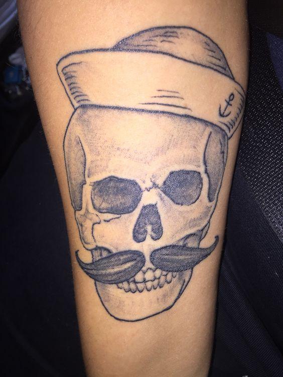 Sailor skull tattoo