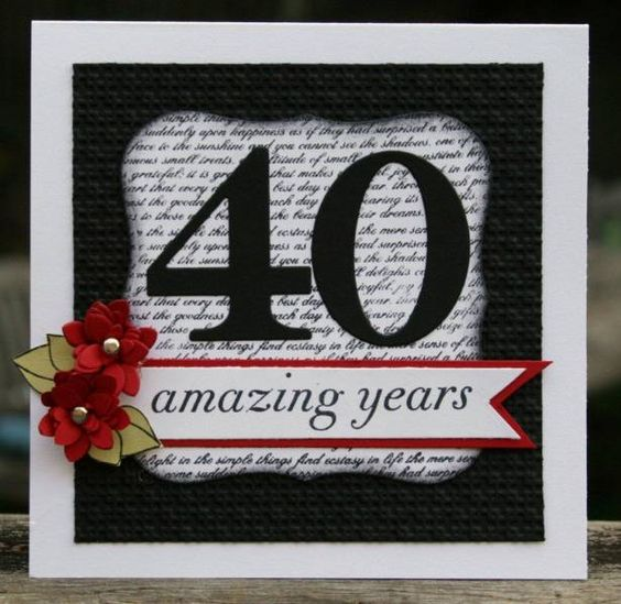 40 Amazing Years by MrsOke - Cards and Paper Crafts at Splitcoaststampers
