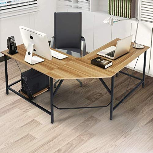 New Kingso 59 L Shaped Desk Corner Computer Desk Modern Writing Study Table Large Pc Laptop Workstation Home Office Desk Study Room Bedroom Living Room Office In 2020 Home Study
