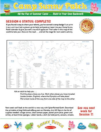 Get your #CampSunnyPatch Session 6 Badge and Bonus World Map Printable!