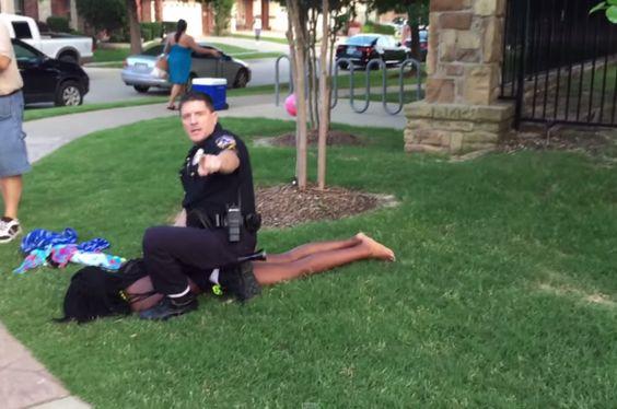 Disturbing Video Shows Officer Tackling, Pulling Gun on Teens at a Pool Party  - Cosmopolitan.com