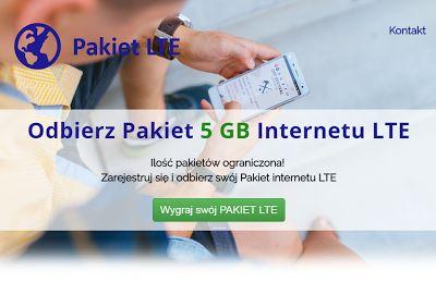 Konkursy, aplikacje i wielle innych.....: Odbierz pakiet 5 GB internetu LTE !
