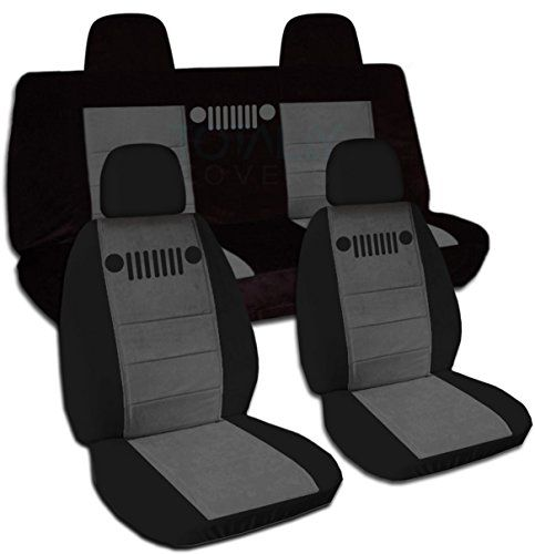 2007 2017 Jeep Compass Patriot Two Tone Seat Covers Black