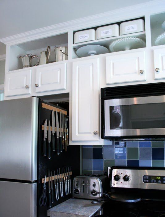 Dead space appliances and cabinet space on pinterest What to do with space above cabinets