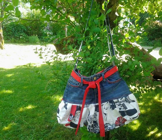 #Jeanstasche, #upcycling,  #Taschen,  # Recycling-Upcycling-Projekt