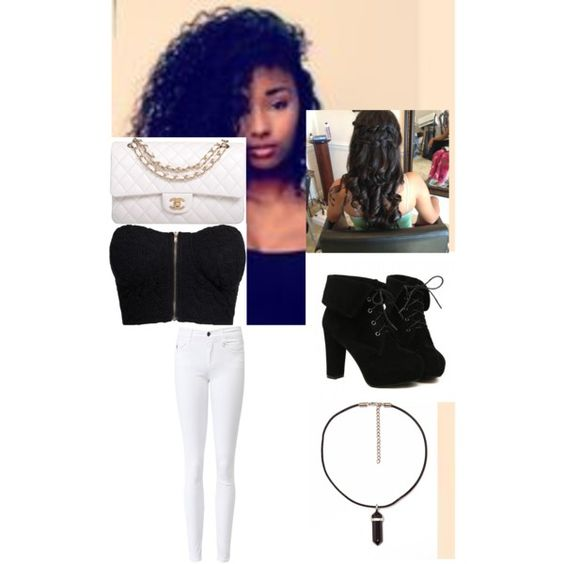 Untitled #67 by khyloveharry on Polyvore featuring polyvore fashion style NLY Trend True Religion TURNOVER Chanel