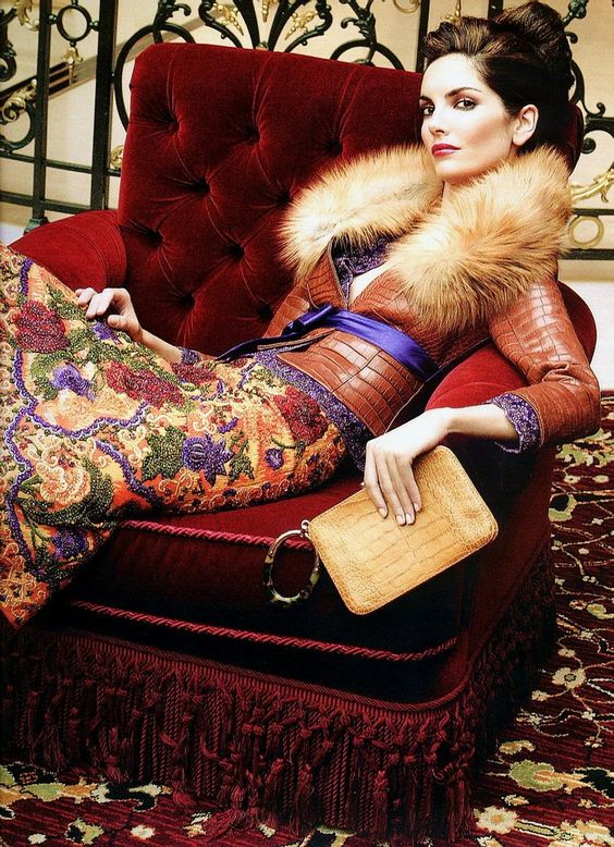 Eugenia Silva for Armani. loove the jacket. must get something similar with faux fur :)