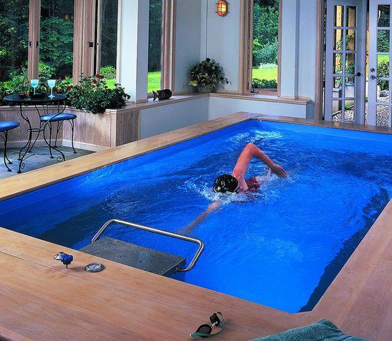 Piscinas sin fin, Máquinas de natación pequeñas, Piscinas para natación con corriente de agua
