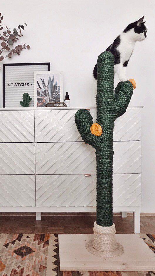 Cactus For Cats Catcus Scratching Post Cat Tree Boho Etsy Cat Cat Tree In 2020 Diy Cat Tower Cat Tree Designs Diy Cat Scratcher
