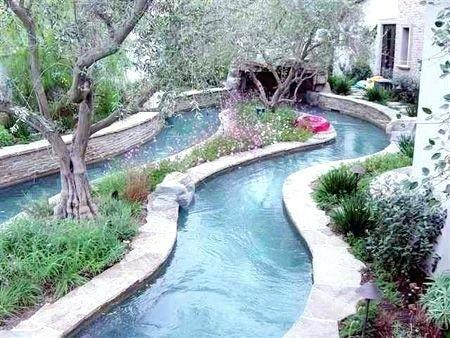 Yard Pools Backyard Lazy River Yards And Rivers Kebun Rumah Kebun Kolam Renang Alami