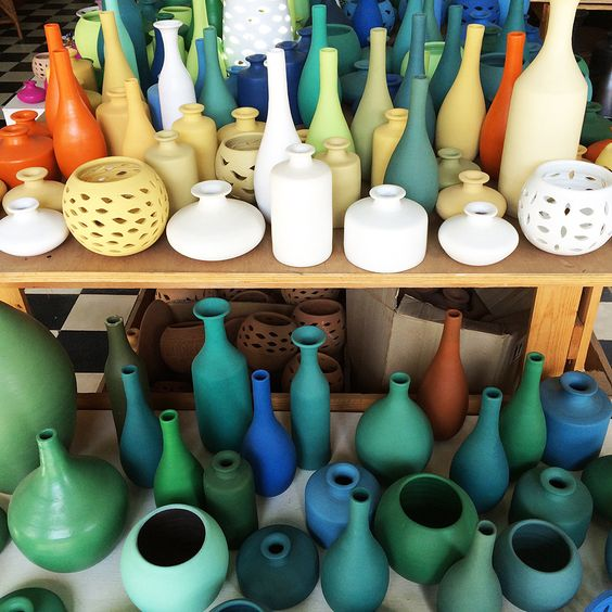 """""""After a week in Havana, I traveled to south-central Cuba to Trinidad, a town in the province of Sancti Spíritus.  Trinidad is one of the best-preserved cities in the Caribbean, with unique Spanish Colonial architecture, cobblestone streets, and never ending pastel-colered homes. I came across these handmade ceramics while browsing the shops there.""""   - HarpersBAZAAR.com"""
