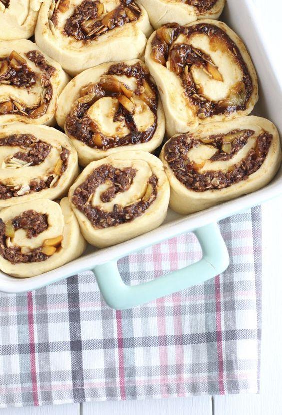 Cinnamon roll de melocotón