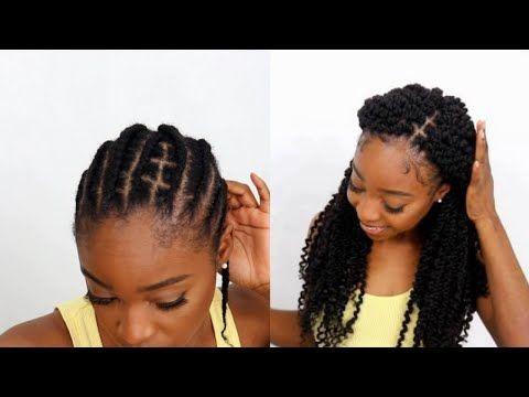 Braid Pattern That Makes Your Crochet Looks Like Regular Braids Ft Lulustress 3x Passion Twist In 2020 Natural Hair Bun Styles Braided Hairstyles Braid Patterns