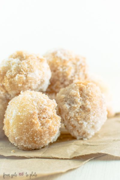 15 Minute Funnel Cake Bites -- From Gate to Plate #FoodieExtravaganza