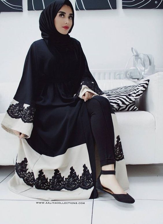 Abaya hijab dress black