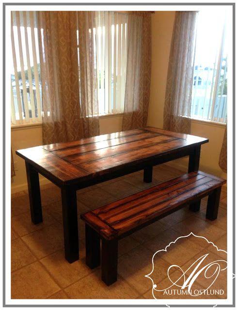 Diy straight leg farmhouse table i 39 m in love with farm for Farm table legs diy