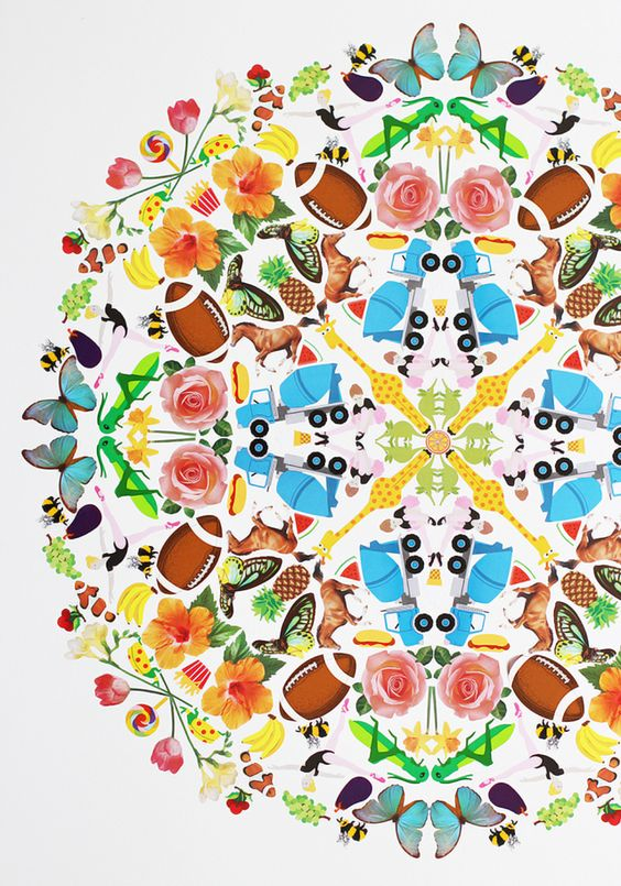 I first discovered Lauren Vardell's sticker art by total happenstance. While perusing the web,  I stumbled across a giant sticker mandala that Mrs Grossman's sticker factory had commissioned the artist to make for them. Honestly, WTF - this thing blew my socks off! The inspiration to make my: